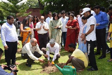 Tree plantation drive during Foundation Day Celebrations